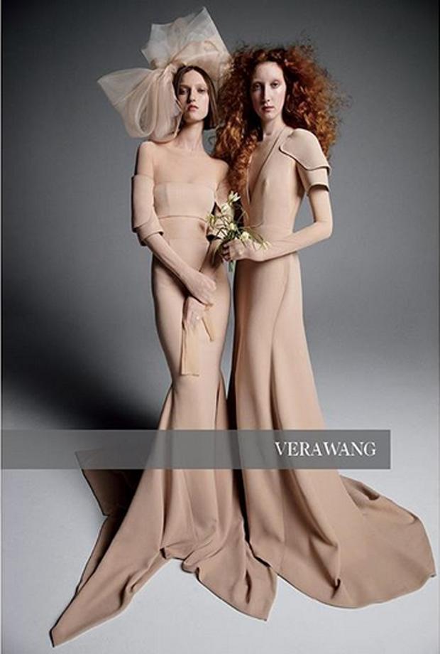 O vestido de Ashley faz parte da coleção de primavera de noivas de Vera Wang (Foto: Reprodução/Instagram)