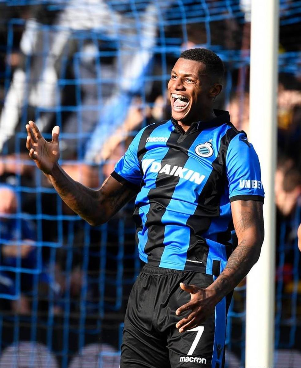 Wesley em ação pelo Club Brugge — Foto: Photo News/Club Brugge