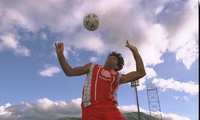 Renato Gaúcho em dia de treino em Moça Bonita