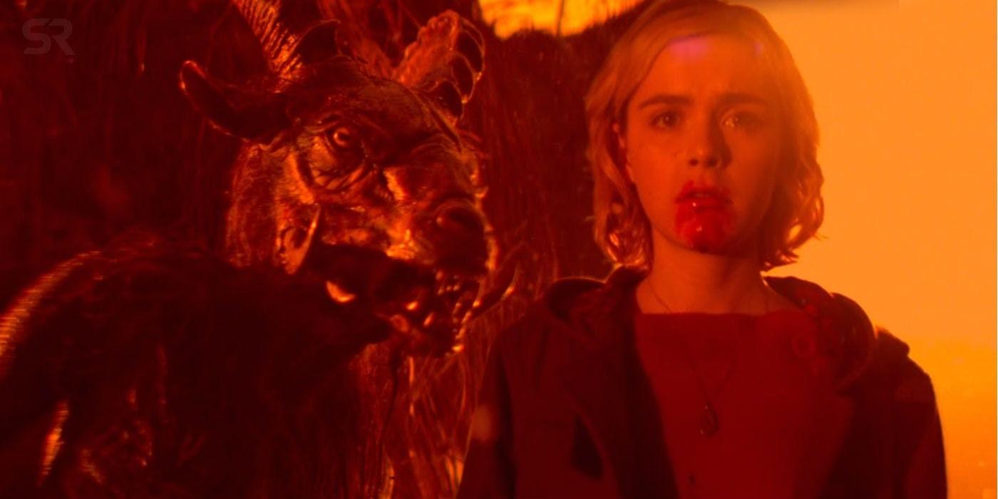 Cena de O Mundo Sombrio de Sabrina, releitura dark da Netflix do clássico juvenil dos anos 90 (Foto: Divulgação)