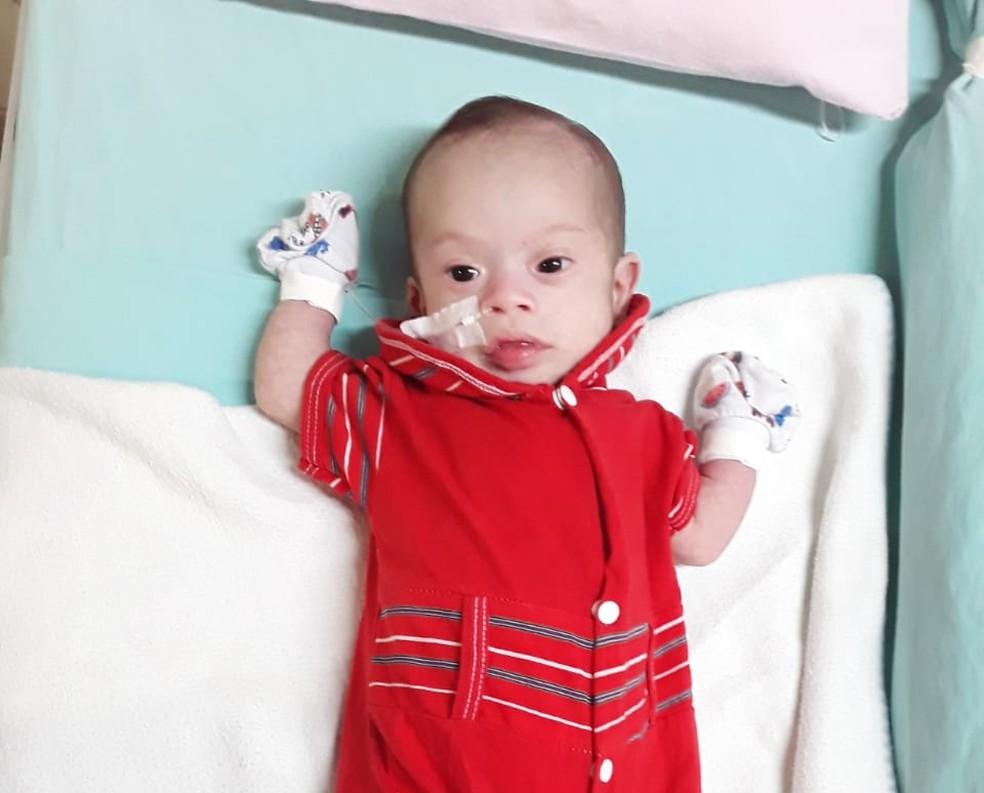 Ícaro Davi foi diagnosticado com uma cardiopatia congênita grave — Foto: Reprodução/Arquivo Pessoal