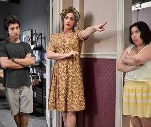 Rodrigo Pandolfo, Paulo Gustavo e Mariana Xavier no longa 'Minha mãe é uma peça'   Divulgação