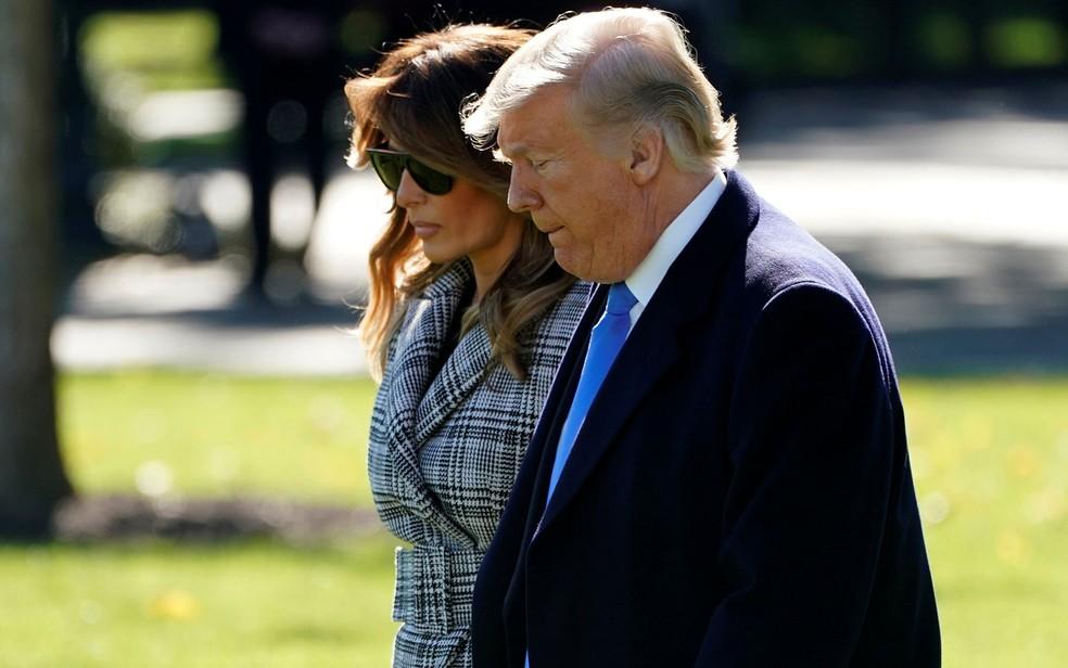 O presidente dos EUA, Donald Trump, e a primeira-dama, Melania — Foto: Joshua Roberts / Reuters