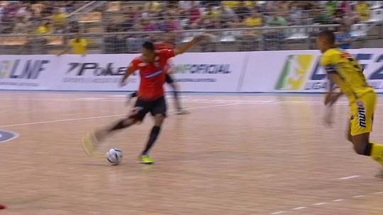 Os gols de Jaraguá 3 x 2 Carlos Barbosa pela Liga Nacional de Futsal