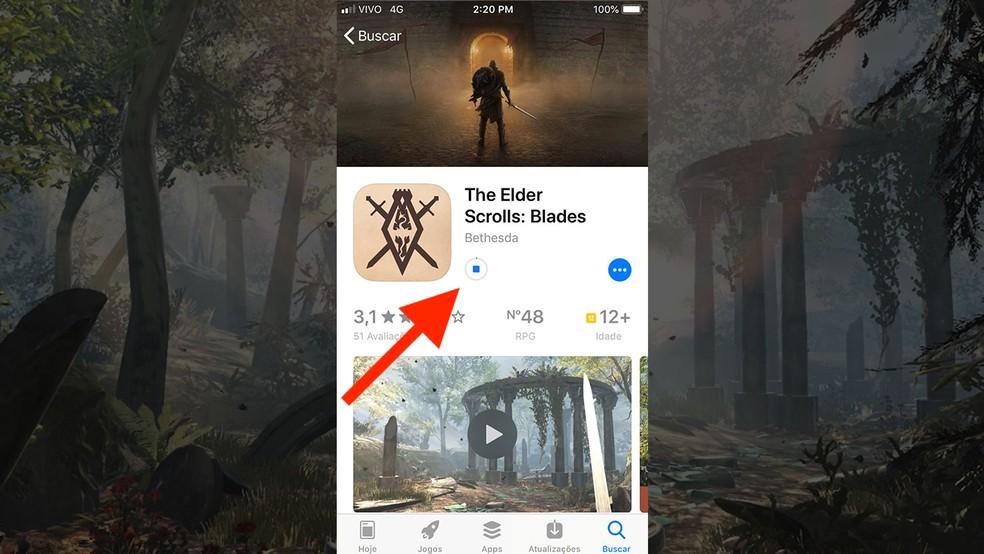 Instale o The Elder Scrolls: Blades no seu iPhone — Foto: Reprodução/Murilo Molina