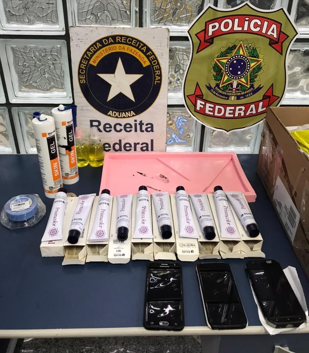 PF prende duas pessoas do tráfico internacional de drogas e apreende aeronave no aeroporto de Belém — Foto: Divulgação/Polícia Federal