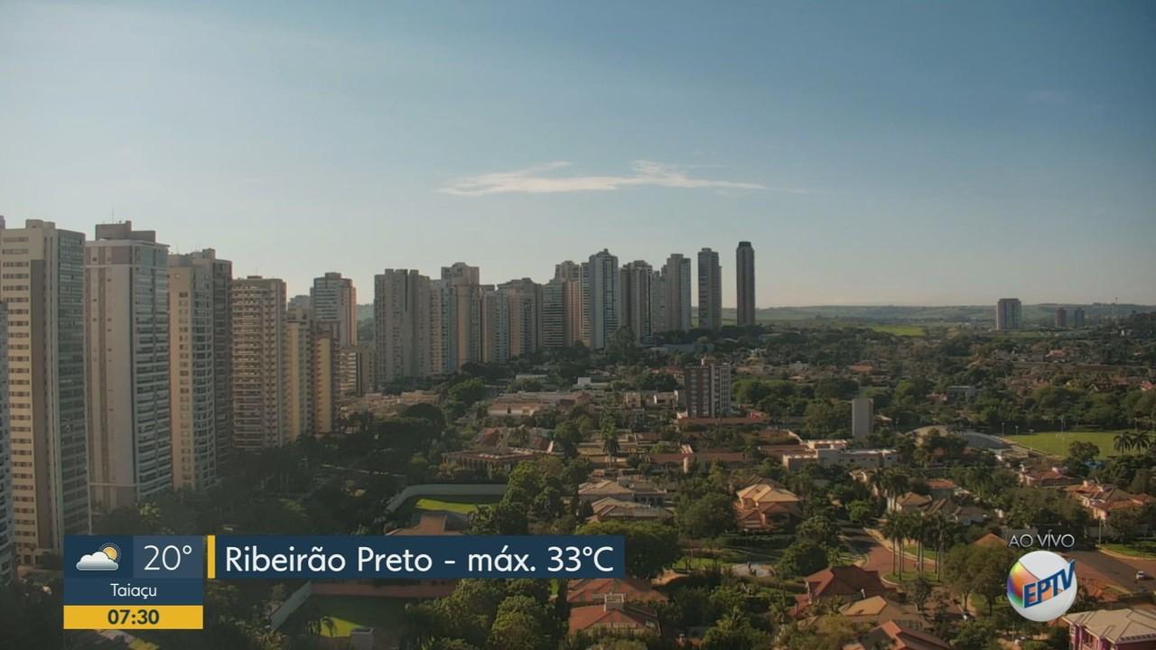 Veja a previsão do tempo para esta sexta-feira em Ribeirão Preto, SP