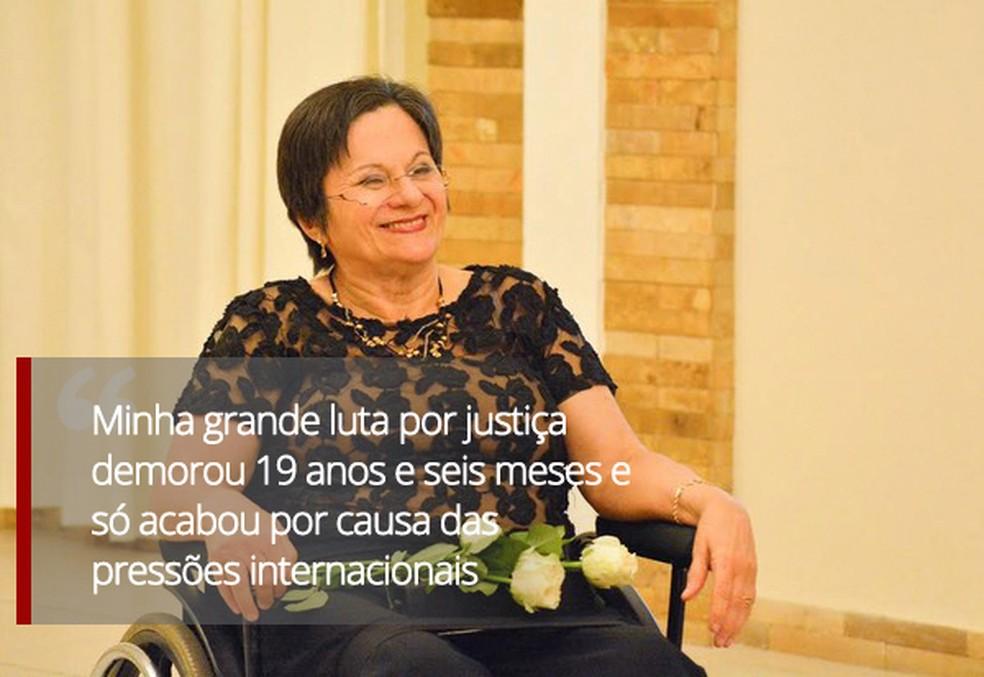 Maria da Penha — Foto: Arte/G1