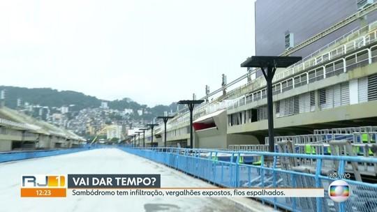 A dois meses do carnaval, Sambódromo do Rio tem problemas estruturais