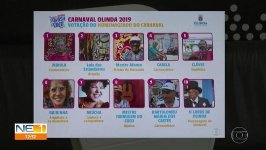 Olinda faz votação popular para escolher os dois homenageados do carnaval 2019