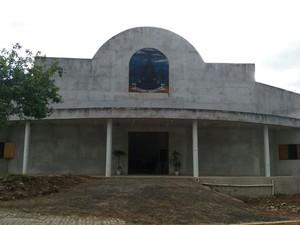 Nova igreja dedicada a padroeira está em fase de acabamento (Foto: Divulgação / Diocese de Caraguatatuba)