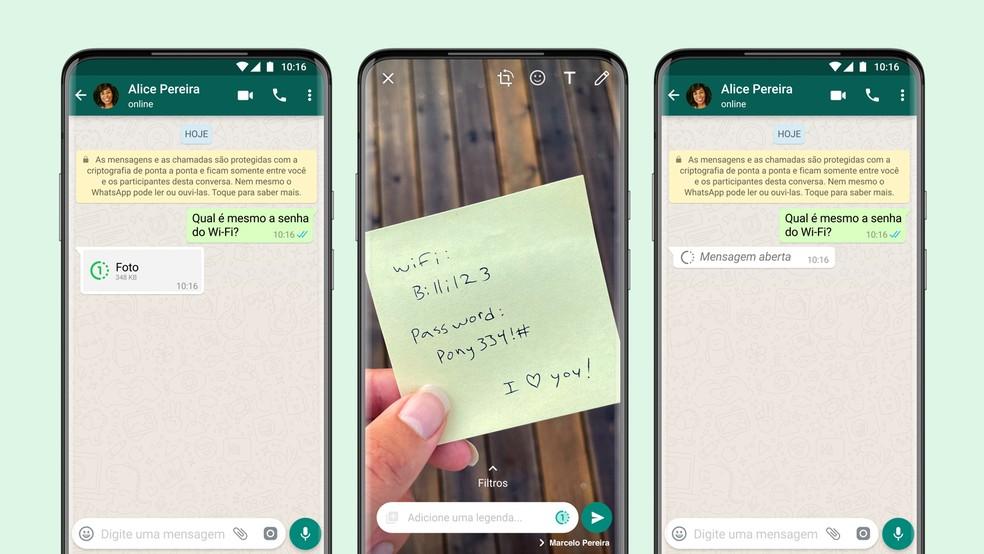 Foto temporária WhatsApp: nova atualização libera imagens que se autodestroem para iOS e Android — Foto: Divulgação/WhatsApp
