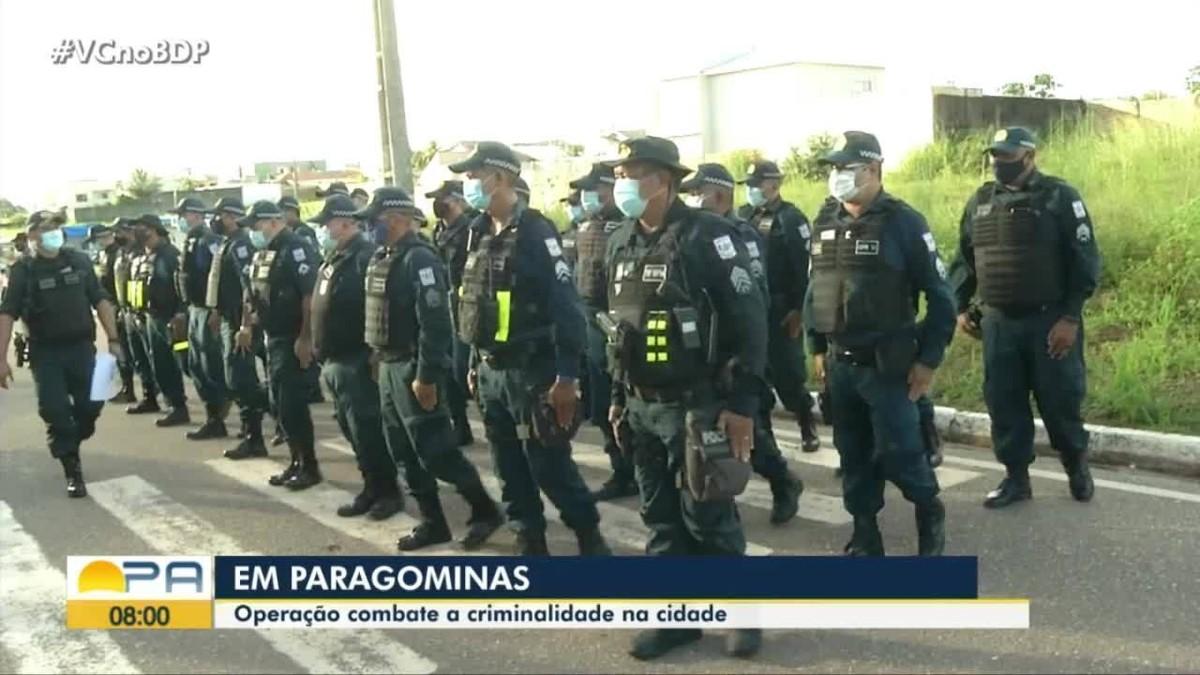 Polícia faz operação para combater a criminalidade em Paragominas