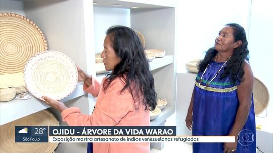 Exposição apresenta artesanato de índios venezuelanos refugiados