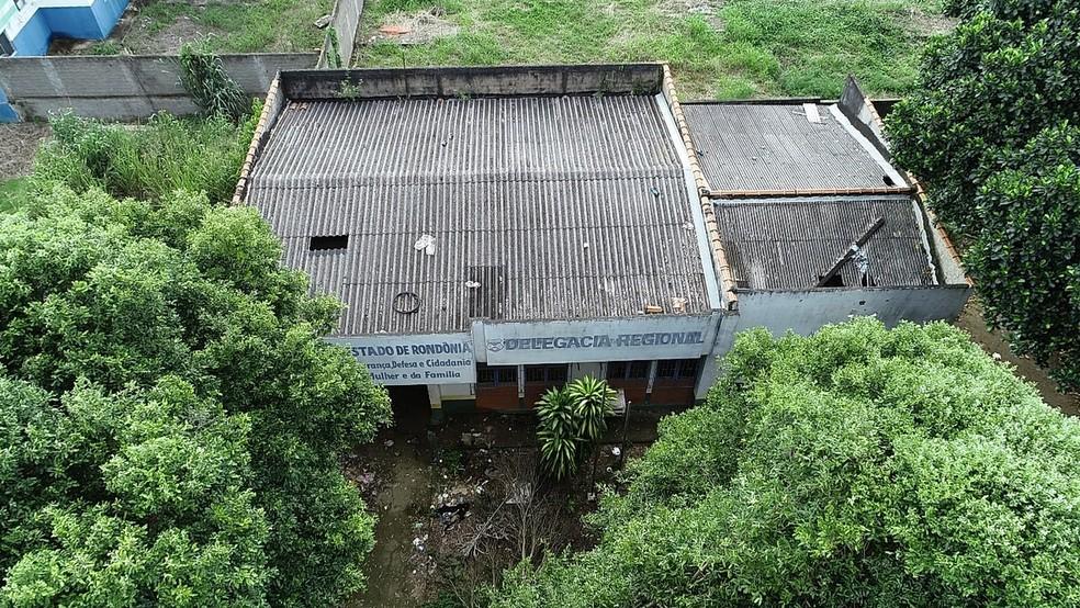Prédios públicos seguem abandonados em Ariquemes. — Foto: Reprodução/Rede Amazônica
