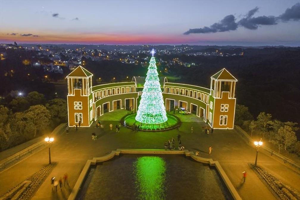 Natal no Parque Tanguá  — Foto: Pedro Ribas/SMCS