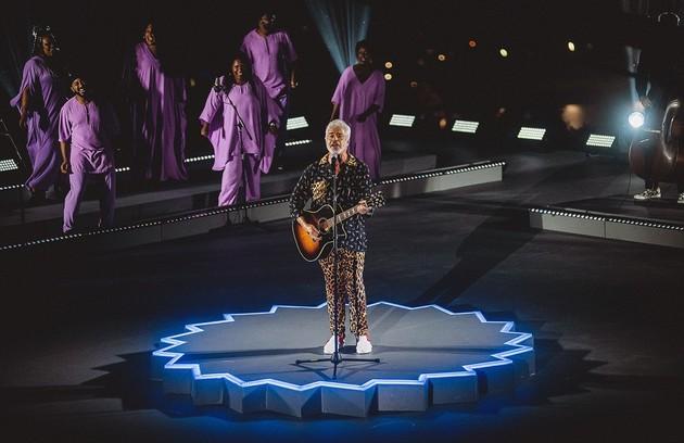 O Multishow manteve o já tradicional prêmio de música, desta vez, armado em palcos espalhados pelo país. O suor da equipe e de quem se apresentou contagiou o público, que cantou junto (Foto: Multishow)