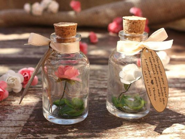 Lembrancinhas de casamento: Flor eterna (Foto: Pinterest/Reprodução)