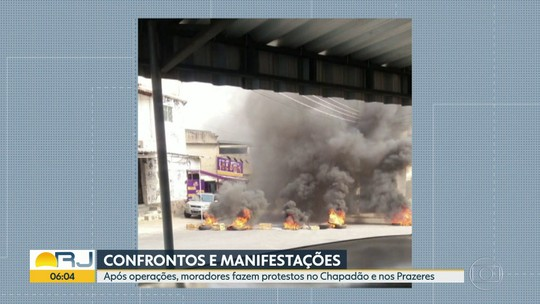 Moradores fazem protestos após operações em comunidades do Rio