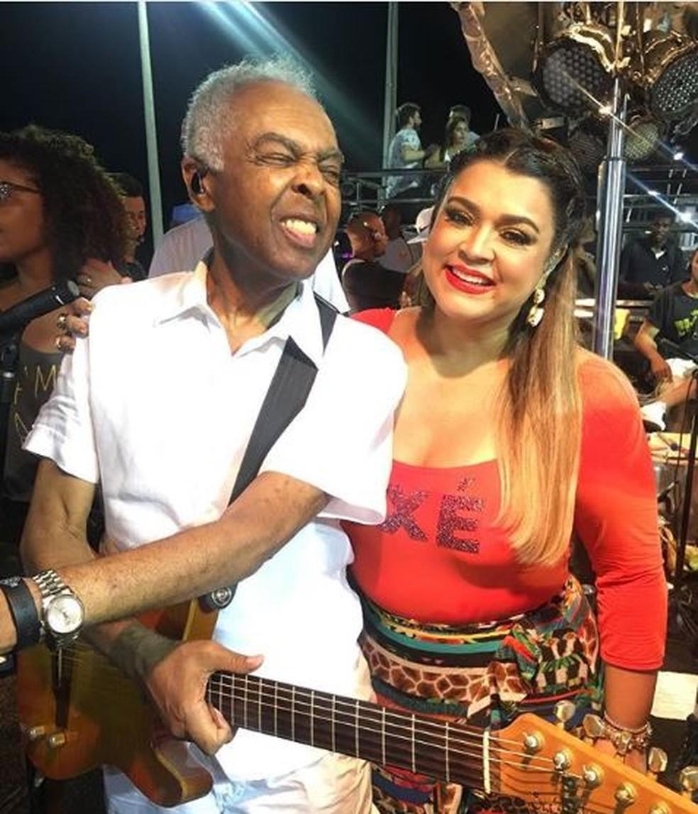 Preta e Gilberto Gil  — Foto: Reprodução/Instagram