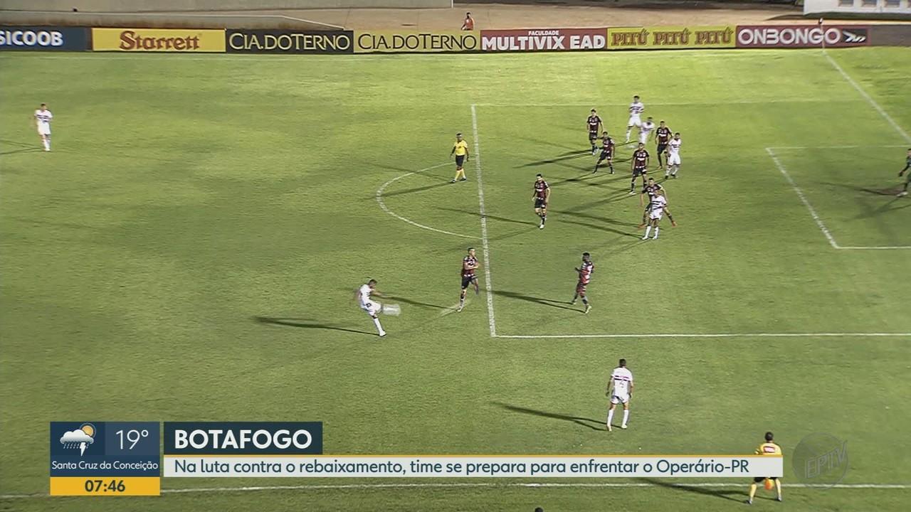 Contra o rebaixamento, Botafogo-SP se prepara para enfrentar o Operário-PR