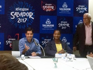 Prefeito ACM Neto anunciou atrações do Réveillon de Salvador nesta segunda-feira (Foto: Juliana Almirante/G1)
