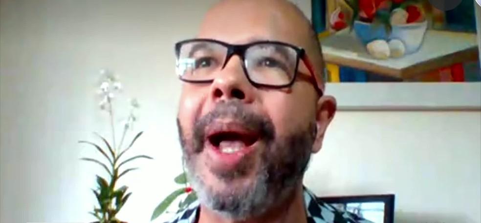 Hugo Monteiro é doutor em educação — Foto: Reprodução/TV Globo