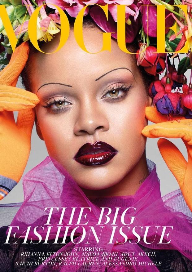 Rihanna na capa da Vogue britânica (Foto: Reprodução/Instagram)