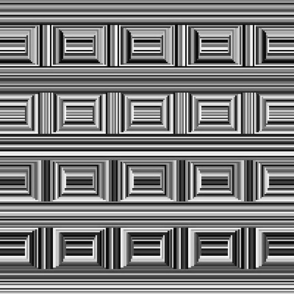 Imagem polêmica divide usuários: você enxerga quadrados ou círculos? — Foto: Reprodução/Twitter