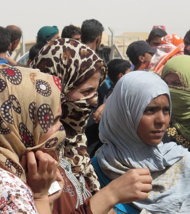 Escalada de violência na cidade aumentou número de deslocados (Foto: AHMAD MOUSA/AFP)