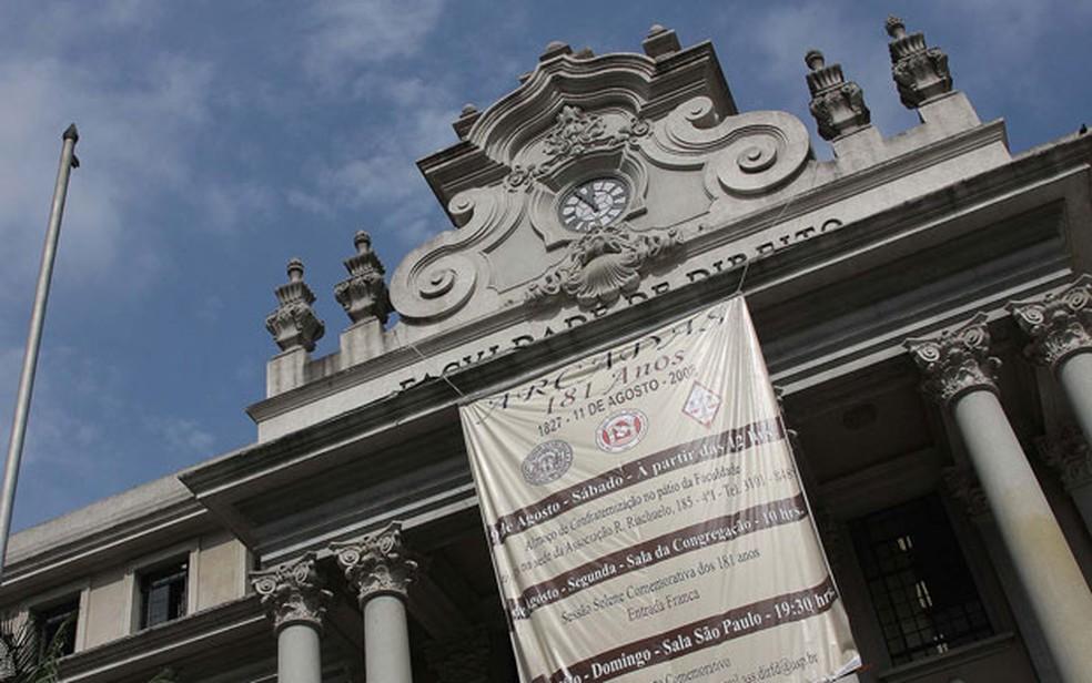 Fachada da Faculdade de Direito da USP no Largo São Francisco, região central de SP (Foto: Marcos Santos/USP Imagens/Divulgação)