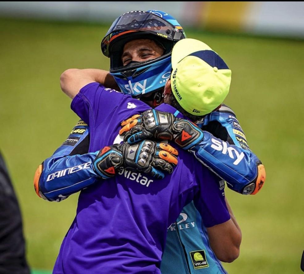 Marini: meu sonho é correr com Valentino Rossi na MotoGP... — Foto: Dorna