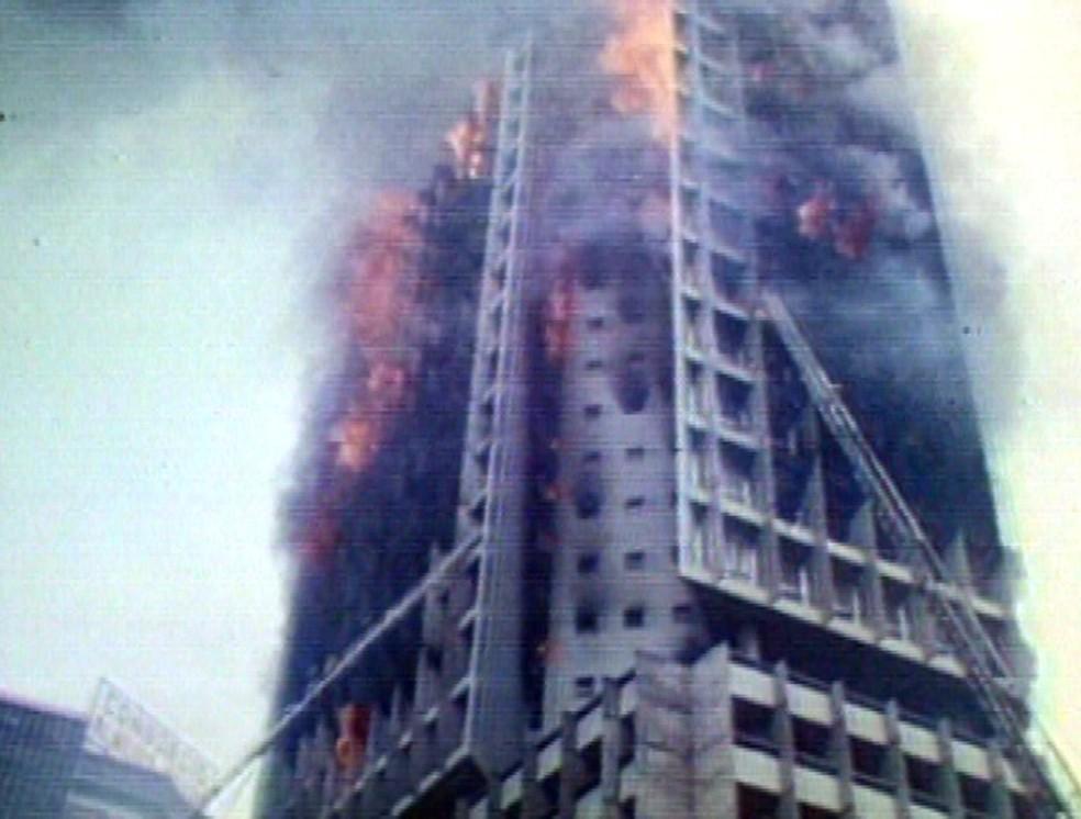 Incêndio no Edifício Joelma, em São Paulo. (Foto: GloboNews)