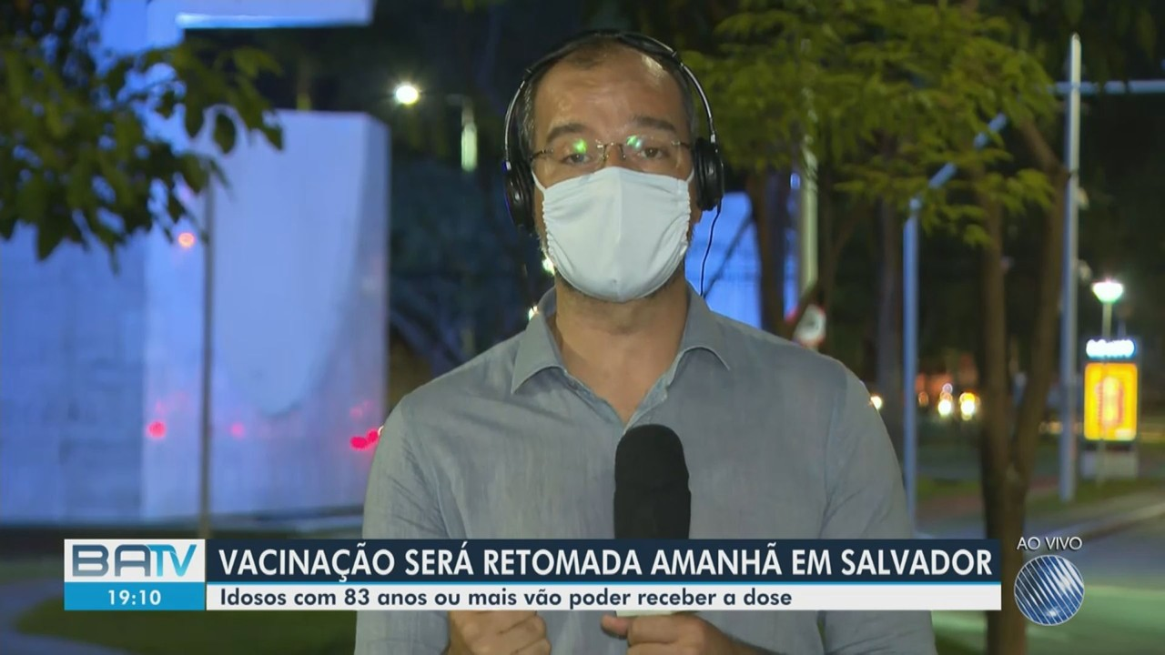 Vacinação contra a Covid-19 será retomada em Salvador a partir de quinta-feira