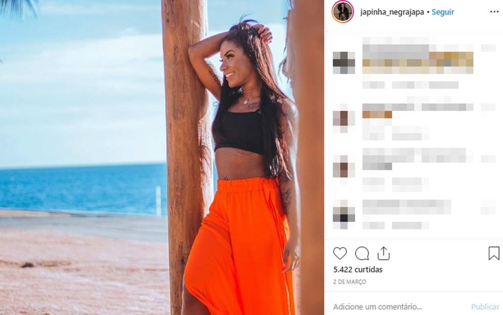 Dançarina da banda La Fúria está internada em Salvador após ser esfaqueada no bairro de Itapuã — Foto: Reprodução/Instagram