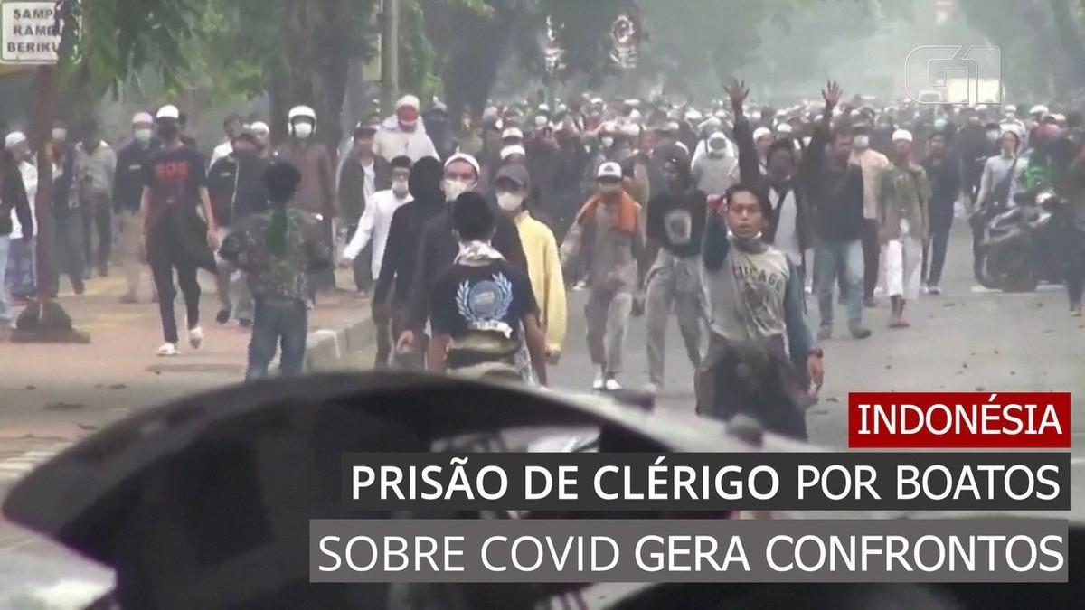 Prisão de clérigo por boatos sobre Covid causa confrontos na Indonésia