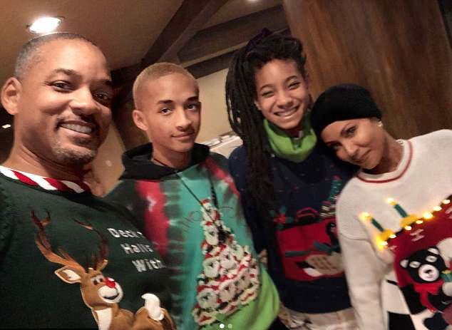Will, Jaden, Jada e Willow Smith (Foto: Instagram)
