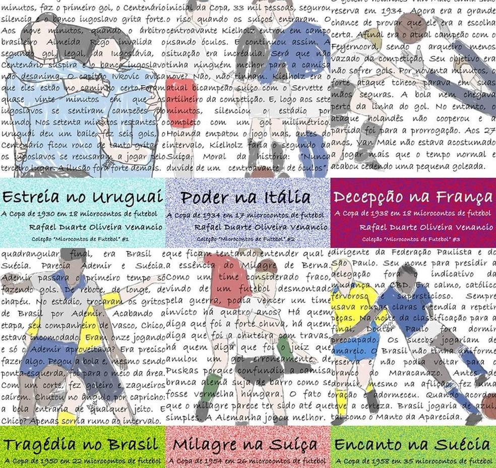 Futebol e literatura: Professor reconta jogos das Copas do Mundo em 100  palavras | triângulo mineiro