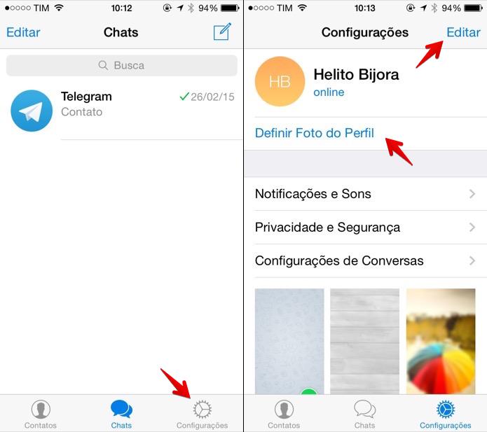 Acesse as configurações do Telegram (Foto: Reprodução/Helito Bijora)