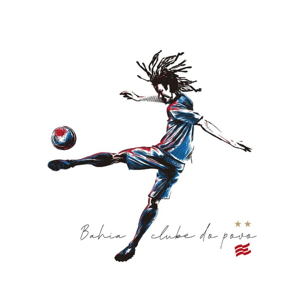 Estampa de uma das camisas comercializadas pelo Bahia na coleção #BahiaClubedoPovo — Foto: Esporte Clube Bahia