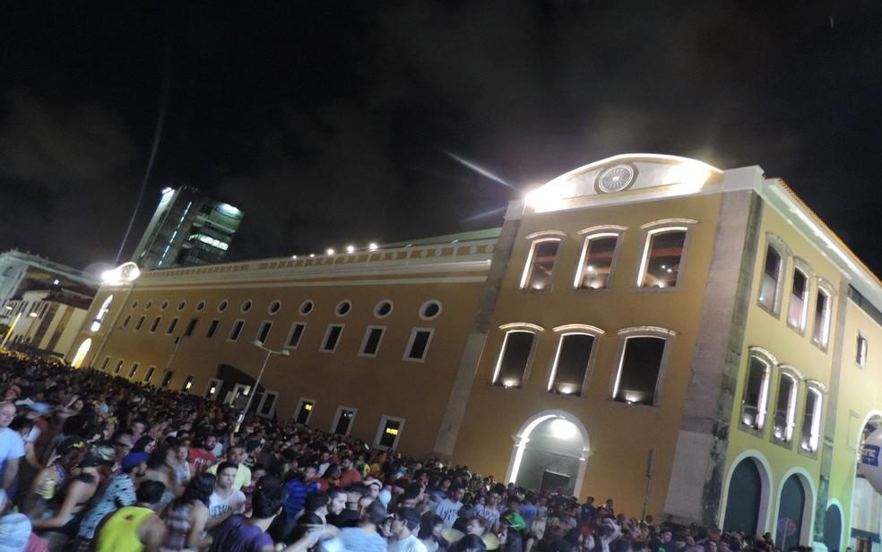 Cais da Alfândega, no Bairro do Recife, recebe o Festival Pré no Reggae (Foto: Thaís Queiroz/G1)