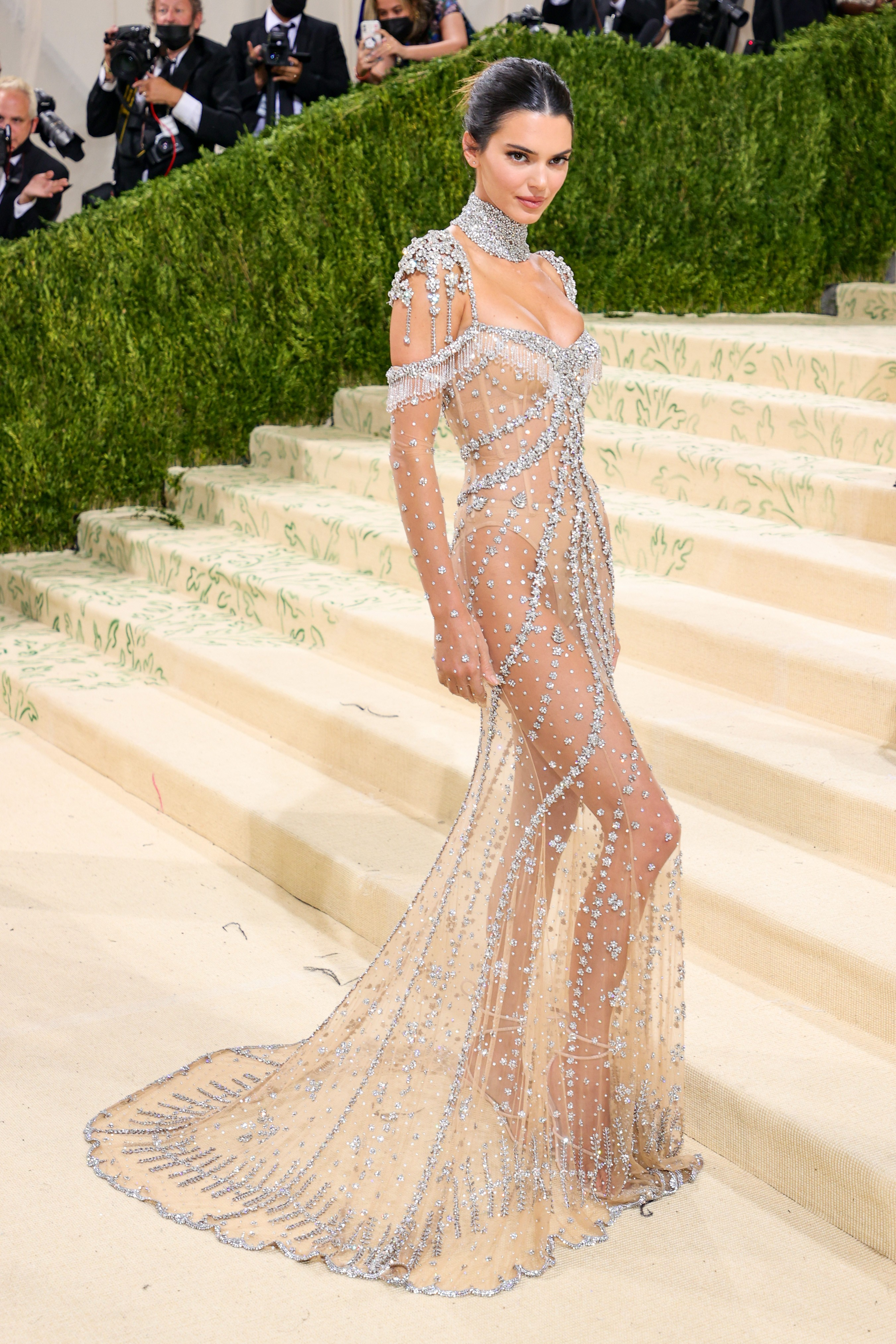 NEW YORK, NEW YORK - SEPTEMBER 13: Kendall Jenner attends The 2021 Met Gala Celebrating In America: A Lexicon Of Fashion at Metropolitan Museum of Art on September 13, 2021 in New York City. (Photo by Theo Wargo/Getty Images) (Foto: Getty Images)