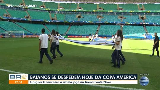 Último jogo da Copa America na Arena Fonte Nova, em Salvador, acontece neste sábado