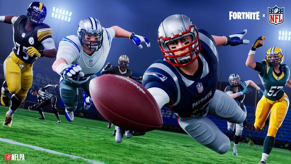 NFL vs. Fortnite. (Image: Epic Games)