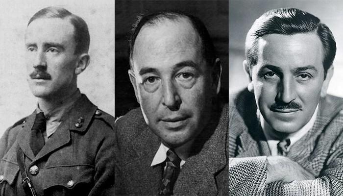 J.R.R. Tolkien, C.S. Lewis e Walt Disney (Foto: Wikimedia Commons)
