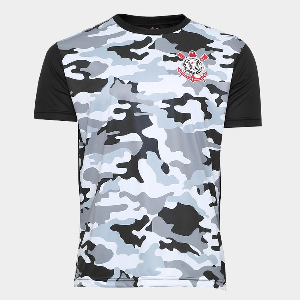 a5df062964 ... Camisa camuflada lançada por loja oficial do Corinthians — Foto   Divulgação