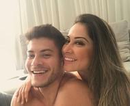 """Mayra Cardi parabeniza Arthur Aguiar: """"Sigo te amando, agora sem esperar nada em troca"""""""