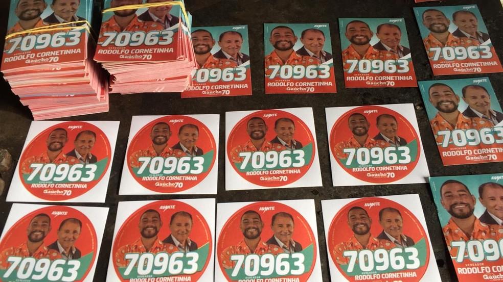 Candidato a vereador em Ipojuca divulgou número de votação errado aos eleitores — Foto: Reprodução/WhatsApp