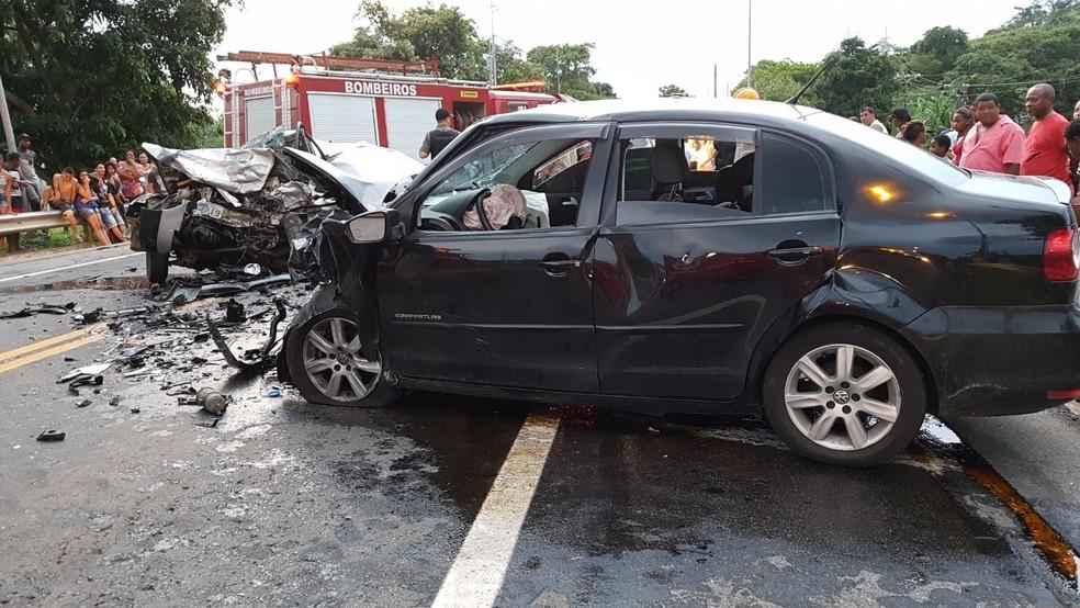 Acidente deixa seis mortos na BR-393, em Três Rios (Foto: Valber Matias/TV Rio Sul)