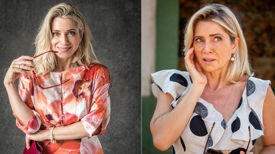 Letícia Spiller brinca com visual envelhecido de Marilda: 'Vovó'